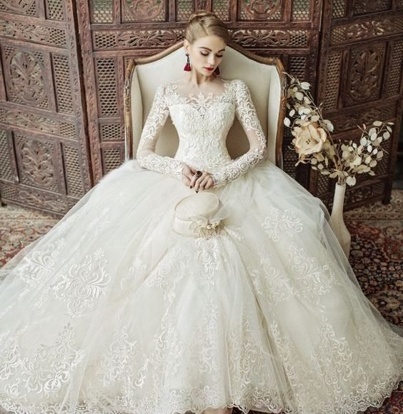 اشكال فساتين زفاف تركي
